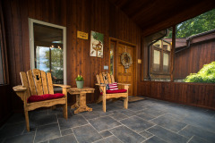 Screened in porch for your morning coffee