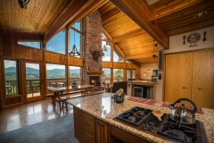 Entry to Cabin is stunning! Open Kitchen, Dinning and Living Spaces. Perfect for entertaining with friends and family.