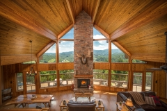 Stunning fireplace, check out the incredible views!